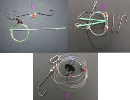 SEA FISHING BAIT CASTING RIGS BAIT CLIP IMPACT SHIELD 1/0 2/0 3/0 HOOK COD BASS